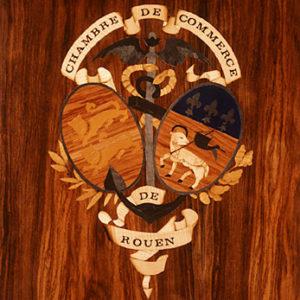 Blason de la Chambre de Commerce de Rouen - 1993 - 80 x 60 cm
