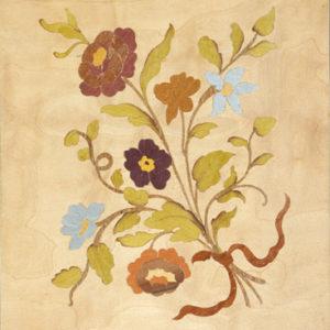 Composition florale 18e siècle - 1988 - 40 x 30 cm